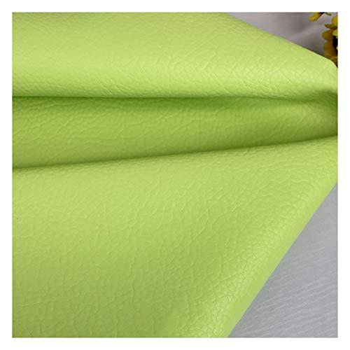 wangk Polipiel para tapizar,Manualidades,Cojines o forrar Objetos.Venta de Polipiel Cuero de imitación Tela Cuero sintético Vinilo Paño de Cuero Material de Tela Polipiel Tela De -Verde Claro 1.38x2m