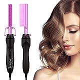 Cepillo alisador de pelo, 2 en 1, peine eléctrico, alisador con tecnología iónica, plancha de pelo de cerámica, plancha para cabello húmedo y seco
