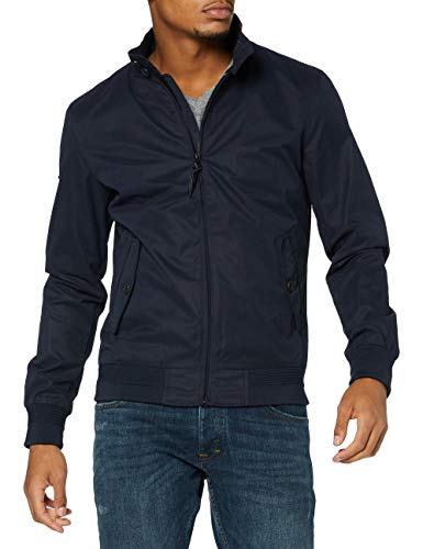 Superdry Mens Iconic Harrington Jacket, Navy, Large