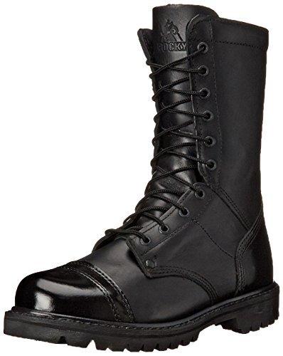 Rocky Side Zipper Jump Boot Size 15(ME) Black