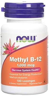 Now 1000mcg Methyl B-12 for Nervous System 100 Lozenges