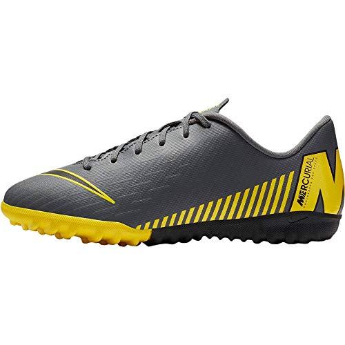 Nike Performance Mercurial VaporX XII Academy TF Fußballschuh Kinder dunkelgrau/gelb, 6Y US - 38.5 EU - 5.5 UK