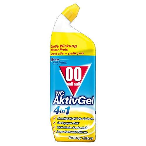 00 null null WC AktivGel 4in1, Flüssiger WC Reiniger, Suny Citrus, 1er Pack (1x750 ml)