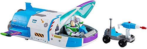 Toy Story 4 Disney Pixar Playset Astronave di Buzz Lightyear Trasformabile 2-in-1 con Luci e Suoni, Personaggio Buzz Lightyear e un Quad Spaziale, per Bambini da 3+ Anni, GJB37