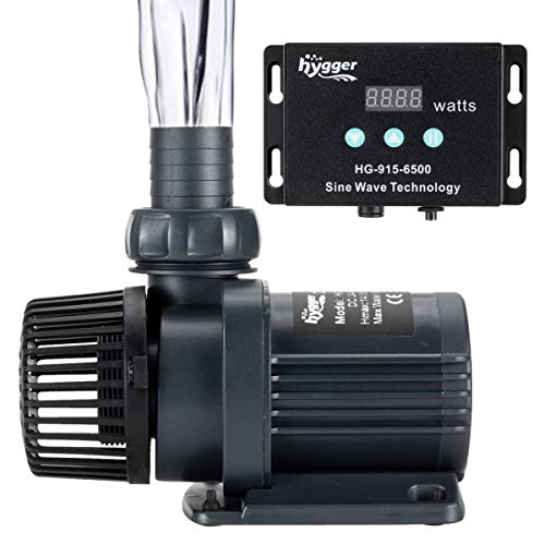 hygger 1720GPH Quiet Submersible and External 24V Water Pump, with Controller (30%-100% Settings), Powerful Return Pump for Fish Tanks, Aquariums, Ponds, Fountains, Sump, Hydroponics (55W, 14.8ft)