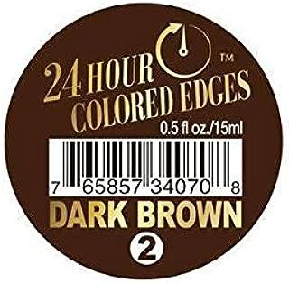 Ebin 24 Hour Colored Edges .5 oz Dark Brown