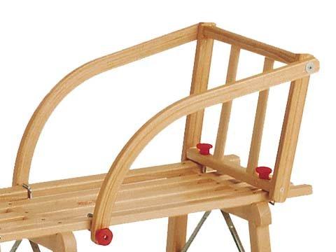 Kinderlehne aus Holz für alle Gloco Schlitten Rodel