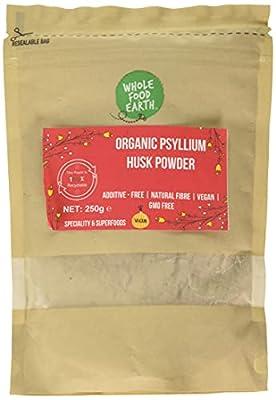 Wholefood Earth - Organic Psyllium Husk Powder - GMO Free - Vegan - Raw - Additive-Free - Natural Fiber - 250g