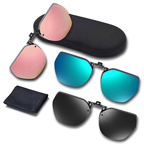 UpaClaire Night Driving Glasses and Sunglasses Clip-On