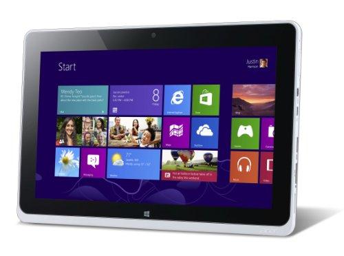 Acer Iconia Tab W510P - Tablet touch 10,1' (25,65 cm), Intel Atom Z2760, 1,5 GHz, 64 GB, Windows 8 Pro, Wi-Fi, colore: Grigio