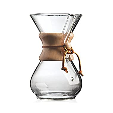 Chemex Classic Series, Pour-over Glass Coffeemaker, 6-Cup - Exclusive Packaging