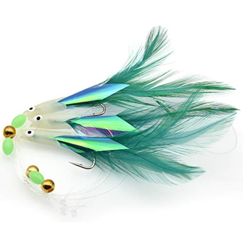 Ron Billy Soft Fishing Tackle 6 Packs 3 Colors Rig Sabiki Hooks Lure