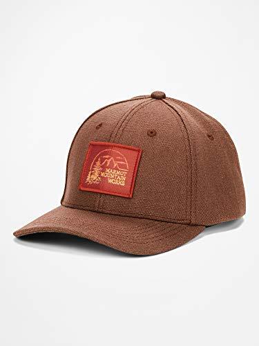 Marmot Erwachsene Cap Baseballcap, Kappe Mit Uv-Schutz, Verstellbar, Für Outdoor, Sport Und Reisen, Earth Hemp/Picante, ONE