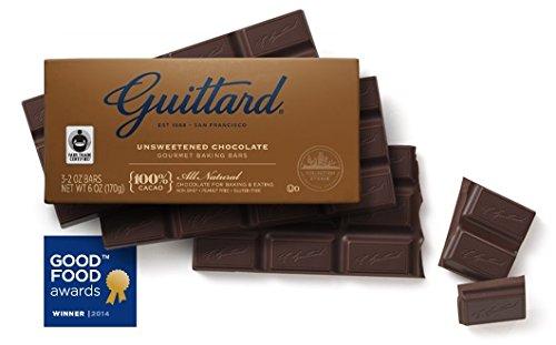 Guittard, 100% Unsweetened Chocolate Baking Bar, 6oz Package (Single)