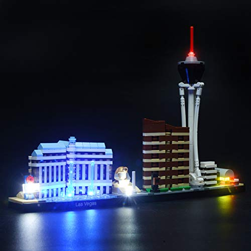 BRIKSMAX Led Lighting Kit for Architecture Las Vegas- Compatible with Lego 21047 Building Blocks Model- Not Include The Lego Set