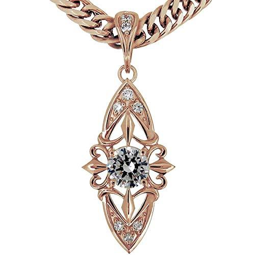 [プレジュール]ネックレス メンズ ピンクゴールド18金 K18 ダイヤモンド 喜平ネックレス