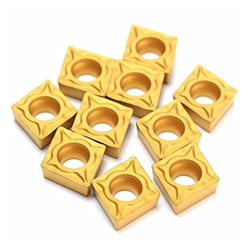 SYHML-SHOP 10pcs / Caja de Torno CNC Cuchillas CCMT060204-HM YBC251 Herramienta de torneado de curtidor de carburo Recubierto de Titanio para moler Herramienta de Torno Máquina de torneado