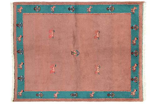 Teppichprinz Gabbeh 236x184cm Orientteppich Handgeknüpft Indien Carpet Rug