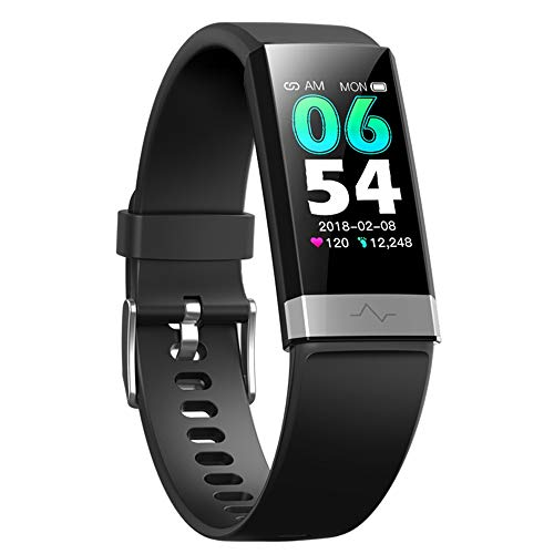 V19 Fitness Activity Tracker & Health Smart Watch with Dual Heart Rate HRV Monitor Blood Pressure Oxygen SpO2 / Scientific Sleep Monitor IP68 Waterproof Sports Exercise Watch for Men Women iOS Android