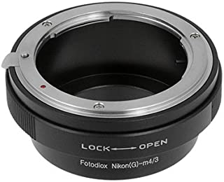 Fotodiox Lens Mount Adapter Compatible with Nikon F Mount G Type Lenses on Micro Four Thirds Mount Cameras