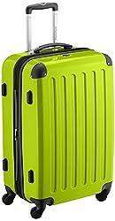HAUPTSTADTKOFFER - Alex - Hartschalen-Koffer Koffer Trolley Rollkoffer Reisekoffer Erweiterbar, 4 Rollen, 65 cm, 74 Liter, Apfelgrün