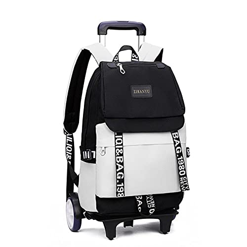 Mochila para niños, unisex, impermeable, ligera, con ruedas, bolsa de viaje, senderismo, hombros, D-30 x 17 x 45 cm