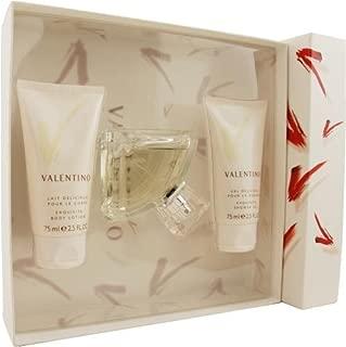 Valentino V By Valentino For Women. Set-eau De Parfum Spray 1.6-Ounces & Body Lotion 2.5-Ounces & Shower Gel 2.5-Ounces
