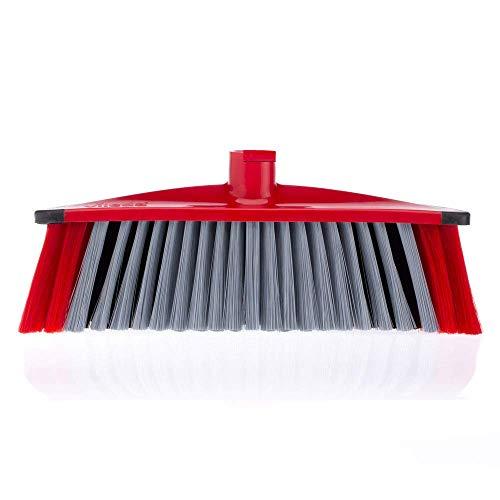 Vileda 3Action Bezem - combinatie van 3 borstelharen - voor stof, grof vuil & haren en voor hoeken