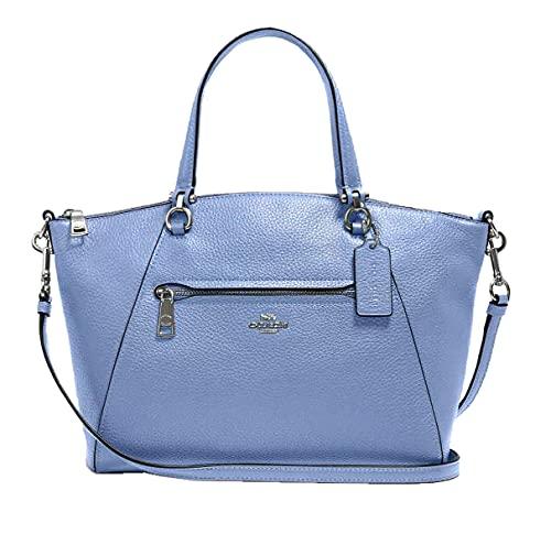 Coach Prairie Periwinkle Purple Blue Medium Day Leather Handbag Bag satchel NEW
