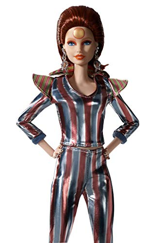 Barbie FXD84 David Bowie Gold Label Collection Doll, Red Hair, Ziggy Stardust Space Suit and Platform Boots