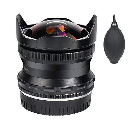 PERGEAR 7.5mm F2.8 カメラ交換レンズ 超広角 魚眼レンズ 手動式 焦点固定レンズ SONY NEX / FS5 / A6000 / A6100 / A6300 / A6400 APS-Cミラーレスカメラに対応 (Sony EマウントAPS-C)
