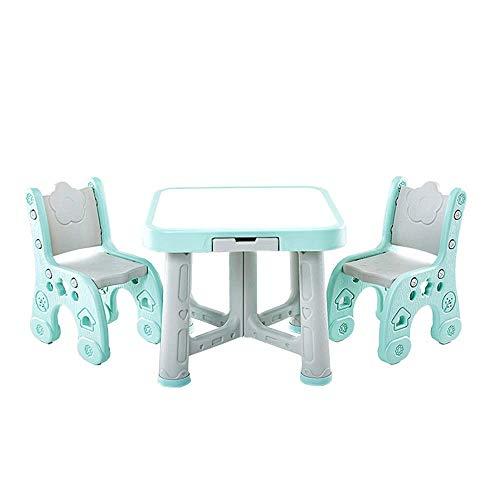 Equipo diario Juego de escritorio y silla para niños Sala de juegos para niños Juego de mesa y silla Juego de mesa para niños Actividad 2 sillas para sus niños Mesa de estudio Escritorio para niños 🔥
