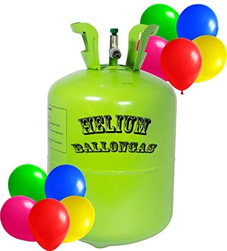 trendmile Premium Helium Ballongas - 1x Heliumflasche für 50 Ballons
