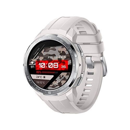 """HONOR GS Pro Smartwatch Reloj Inteligente Deportivo 5ATM Resistente al Agua GPS Smart Watch Pulsera de Actividad 1.39"""" con Monitor de Pulsómetro Compatible con iOS y Android (Blanco)"""