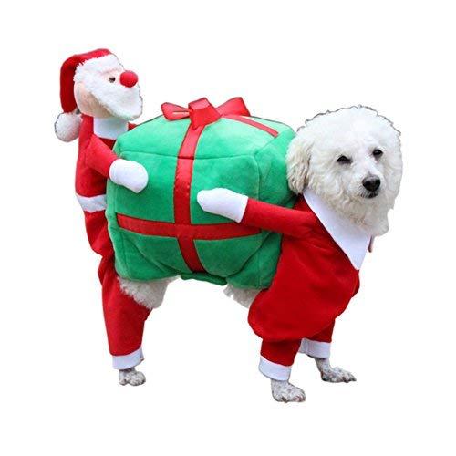 LEHOUR Cachorro de Perro Trajes de Navidad Ropa Gato Cosplay...