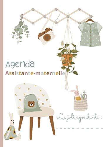 AGENDA ASSISTANTE-MATERNELLE - AGENDA SEMAINIER: Planificateur des tâches, emploi du temps, plannings mensuels, semainiers,