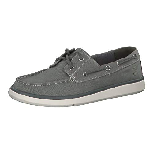 Timberland Herren Schuhe Gateway Pier Boat Shoe Medium Grey 46