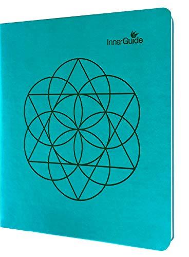 InnerGuide - Planificador de objetivos y vidas, organizador semanal y mensual, libro de citas y diario (sin fechas, funda de piel sintética)