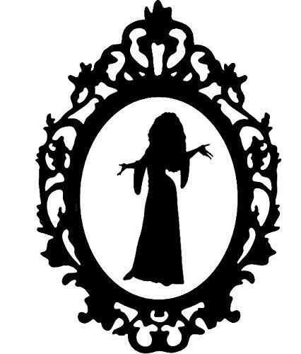 Disney Villain Silhouette Frame Sticker Decal HSS072 By Happy Snail Stickers