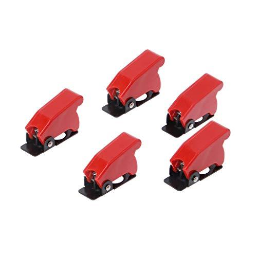 ZJL220 5 piezas de plástico 12 mm interruptor de palanca de seguridad cubierta protector tapa protector