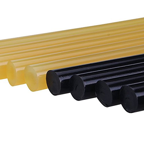GLISTON Paintless Dent Removal Glue Sticks Hot Glue Sticks Paintless Dent Repair Tool for Car Repair Dent Remover Tool Set - 5 PCS Black & 5 PCS Yellow
