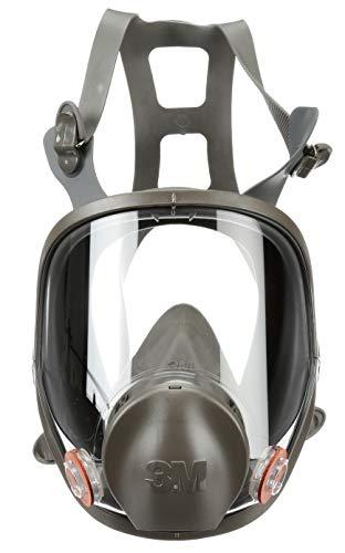 3M Full Facepiece Reusable Respirator 6900, Paint Vapors, Dust, Mold, Chemicals, Large,Gray