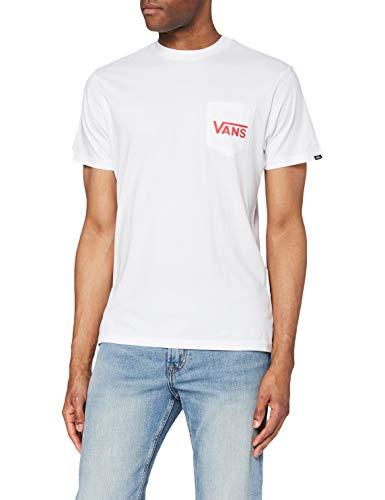 Vans OTW Classic Camiseta, Blanco Alto Riesgo Rojo, M para Hombre