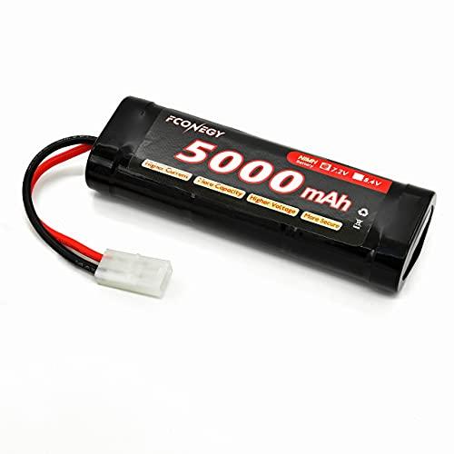 FCONEGY RC Akku 7.2V 5000mAh NiMH Batterie Wiederaufladbar Flat Pack Batterien Modellbau Akkupack für RC Car