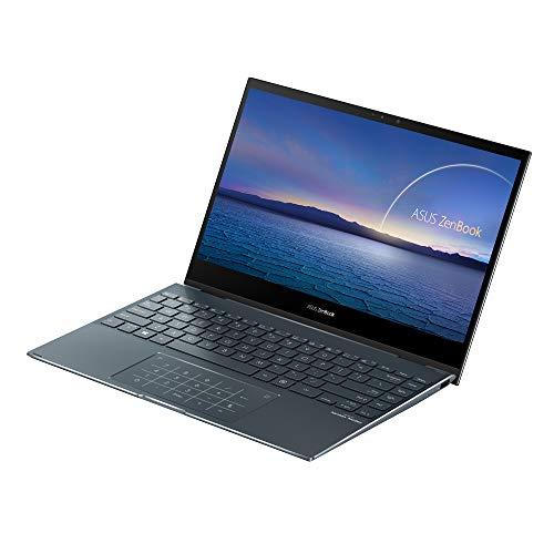 """ASUS ZenBook Flip 13 UX363EA-HP043T - Ordenador Portátil de 13.3"""" Full HD (Intel Core i7-1165G7, 16GB RAM, 512GB SSD, Intel Iris Xe Graphics, Windows 10 Home) Gris Pino-Teclado QWERTY español"""
