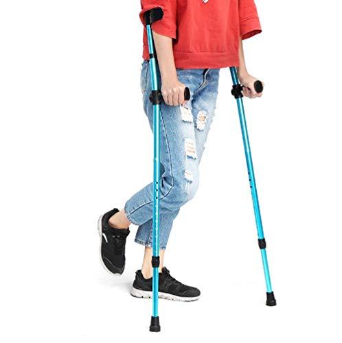 Yao 2 Stks Verstelbare Onderarm Elleboog Onderarm Krukken Telescopische Blauwe Vouwen Wandelstokken Aluminium Trekking Wandelstokken