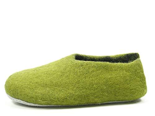 Rohde 7980 Nepal Damen Hausschuhe Pantoffeln Slipper, Größe:36 EU, Farbe:Grün