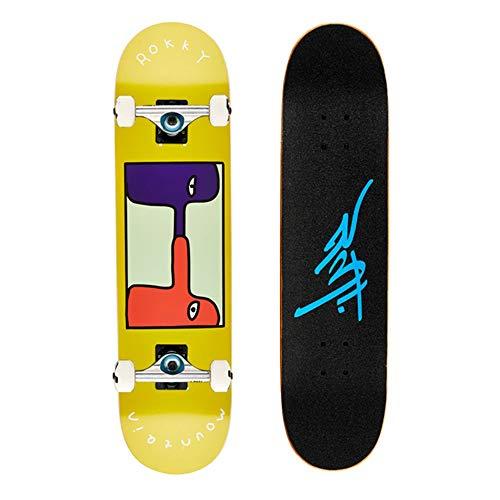 プロスケートボード/スタントテールキック/メープルデッキ/サーフスケート スケートボード コンプリートDaincing, Freestyle, Cruising, Free ridenaなどに適用【アクションホイール:ポリウレタン、101A】