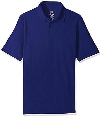 Hanes Men's Short Sleeve X-Temp W/ FreshIQ Polo, Deep Royal, Medium