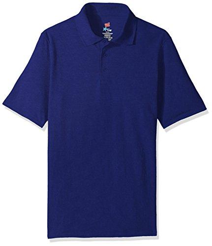 Hanes Men's Short Sleeve X-Temp W/ FreshIQ Polo, Deep Royal, XX-Large